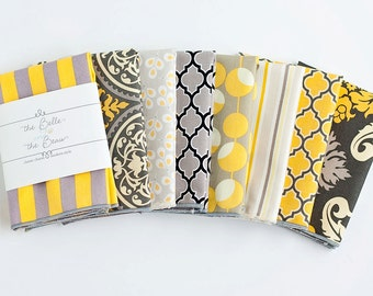 Pocket Square, Pocket Squares, Handkerchief, Mens Pocket Square, Boys Pocket Square, Wedding Pocket Squares - Grey And Yellow Collection