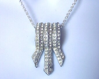 Vintage Rhinestone Necklace Bridal Jewelry