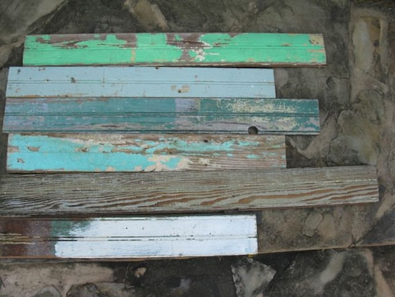 Lot of vintage salvage bead board recycled wood for Reclaimed wood suppliers