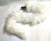 Faux Fur Cat Tail - Snow White - Cosplay / Costume / Furry