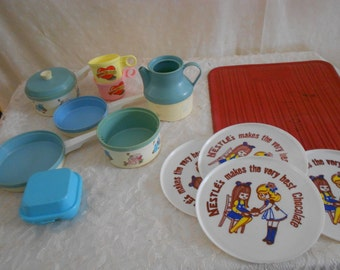 Toy Dishes Chilton-Globe Drainer mat, nestles plates  15 pieces (read details)