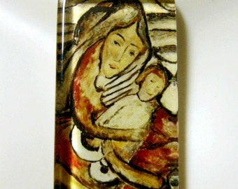 Madonna and child pendant with chain - GP01-035