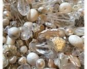 Ice Castle Semi Precious Bead Mix with Czech Glass, Boho, Glam, Sparkle, Christmas, Snow
