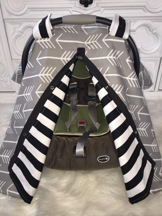 Car seat canopy gray arrow black stripe / Car seat cover / car seat canopy / carseat cover / carseat canopy / nursing cover