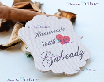 """48 Personalized Rectangle Bracket III Size 2.25"""" x 2.50"""" -Custom Bracket Labels -Personalized Rectangle Bracket Tags -Paper tags"""