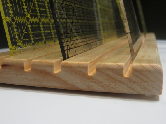 Wood Quilting Ruler Holder - Template Organizer / Storage from BuchananFamilyArts on Etsy Studio