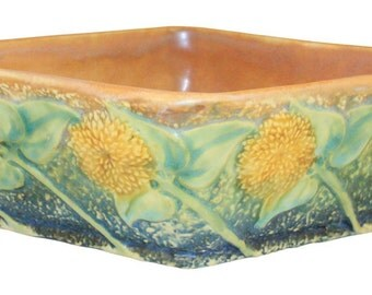 Roseville Pottery Sunflower Console Bowl