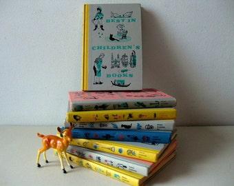 Vintage 1950s childrens illustrated book set Best of Children's books