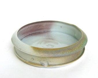 porcelain dish   ...  vintage handmade ceramic plate  ...  modern low bowl  ...  elegant clay