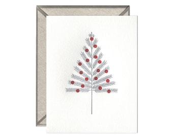 Aluminum Tree letterpress card - single