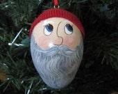 Santa Elf Gourd Ornament