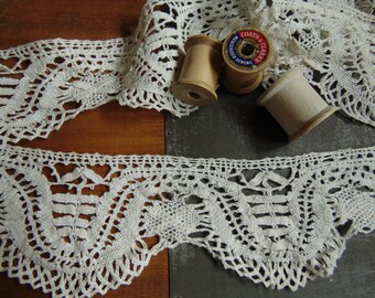 Vintage Cotton Lace Trim Boho Fashion 3 Yards 2.74 Metres