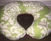 SALE!!! Ships Today! Avocado Damask reverse to Talulah Boppy® Cover, Cover for Nursing Pillow, Reversible Boppy® Covers, Boppy® Covers