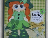 St. Patrick's Card  Handmade Paper Piecing 3D Greeting Card