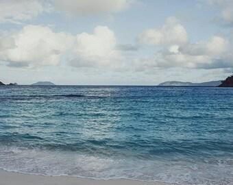 Landscape Photography, Beach Print, Fine Art Photography, Caribbean Ocean Decor, Tropical Beach Print. St. John, USVI, Home Decor