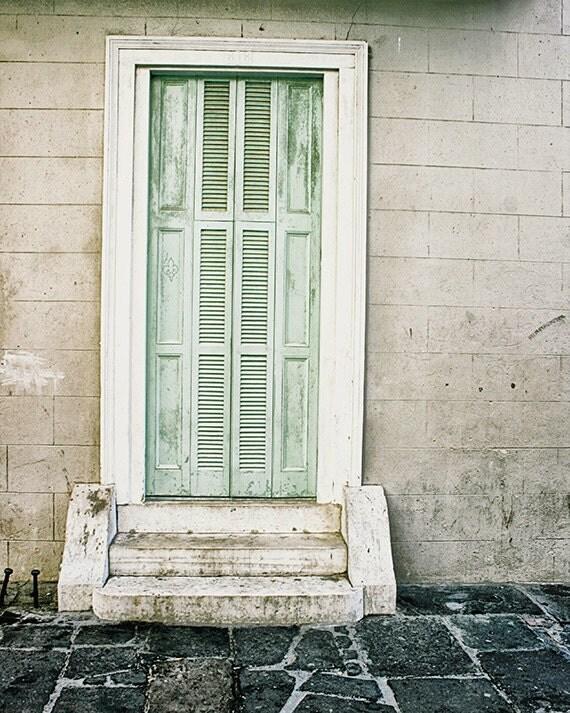 New Orleans Door Art Photography, French Quarter Door Picture, Louisiana Decor, Spring Wall Art, Pastel Print, NOLA Art Print, Travel Photo