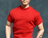 "Fitted Tee Shirt - fit 12"" Fashion Royalty HOMME Dolls - several colors available!"