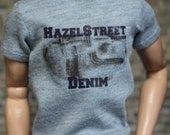 "Fitted HazelStreetDezigns Graphic Tee - Shirt for 12"" Fashion Royalty HOMME Dolls"