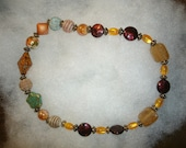 REVERSIBLE Roll-on Desert Color Beaded Necklace