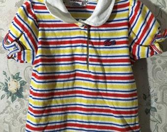 Girls vintage Izod shirt with ruffled sleeves 18m-2t