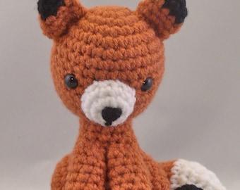Fox Amigurumi Crochet Handmade Stuffed Animal Plushy Toy