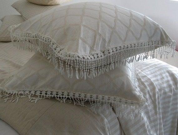 Decorative Bed Pillows Shams : Cotton Pillow Shams Cotton pillow Sham Pillow by SPCustomDrapery