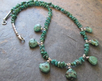 Turquoise Necklace - Chakra, Bohemian Style Jewelry