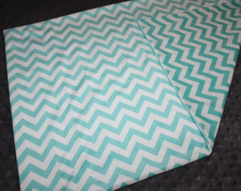 "Light Blue Chevron Standard Pillowcase- 20""x30""- Soft N Comfy Standard Pillowcase- Plush Pillowcase- Teen Birthday- Adult Birthday"