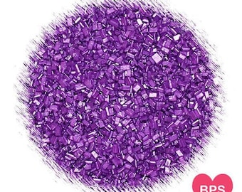 Shimmer Purple Sparkling Sugar, Purple Sugar, Sugar Crystals, Wedding Sprinkles, Edible Sprinkles, Coarse Sugar Crystals, Purple Sprinkles