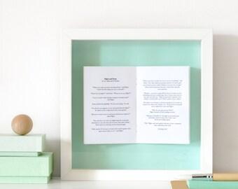 Poem Frame - Small Frame