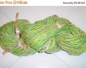 SALE - Handspun Wool Yarn - Merino Fiber - Tree Frog - 82 Yards