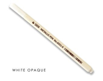 Opaque White Marker for guest book alternative poster in Gold Silver Metallic Sharpie Marker White Wax Pencil