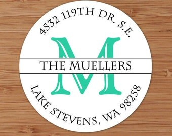 Simple Initial - Custom Personalized Address Labels or Stickers