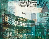 Opening Day paper print - Fenway Park Boston mixed media art