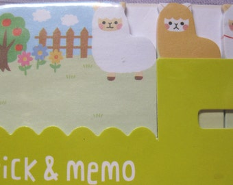 Llama or sheep friends sticky note for planner scrapbooking card making paper memo kawaii ship from USA