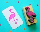 Fancy Flamingo Rubber Stamp - Bird Rubber Stamp  - Tropical Rubber Stamp - Tropical Stationery - Tropical Wedding - Pink Flamingo
