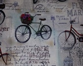 Vintage Bicycle Fabrics--Gorgeous -- 40-70% off Patterns n Books SALE