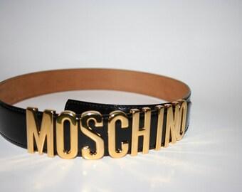 RESERVED Black Moschino Belt Redwall 90s