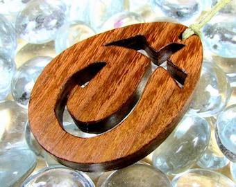 Cross Pendant / J Cross / Locust Wood