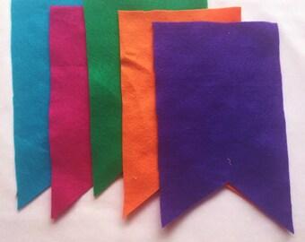 DIY Banner supplies-dovetailed rectangle pennants- blank banner- 10 feet