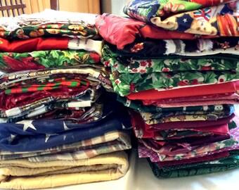 Fabric Grab Bag. Christmas Fabric Destash. Cotton Fabric. Bulk Fabric. Lot Fabric. Fabric by the Box. Vintage Fabric. 9+ lbs. Fabric Box 2