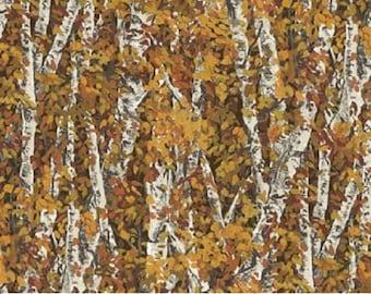 Aspen, 1 Yard, Flannel Fabric, Birch, Autumn Trees, Flannel Fabric, Call of the Wild by Northcott Fabrics,  F20930,  Trees, Autumn