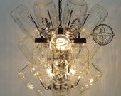 Mason Jar CHANDELIER Drying Rack 4-Light  *ADD your OWN jars!
