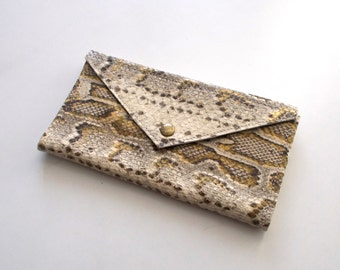 Snake Pattern envelope  wallet - leather women wallet