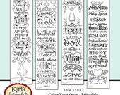 40% OFF Luke 1-4 Color Your Own Bible Bookmarks Bible Journaling Tags INSTANT DOWNLOAD Scripture Digital Printable Download Christian Religi