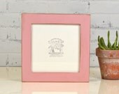 8x8 Square Picture Frame in 1.5 Standard Style with Vintage Rose Pink Finish - In Stock Same Day Shipping - 8 x 8 Photo Frame