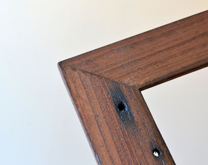 "Reclaimed Redwood ""Easy Street"" Style - Select your small frame size: 3x3, 2x6, 3.5x5, 4x5, 4x6, 5x5, 5x7, 6x6, 6x8, 7x7, 4x10"