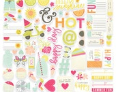 Sunshine & Happiness Bits and Pieces Cardstock Die-Cuts 66/Pkg Simple Stories (7229)