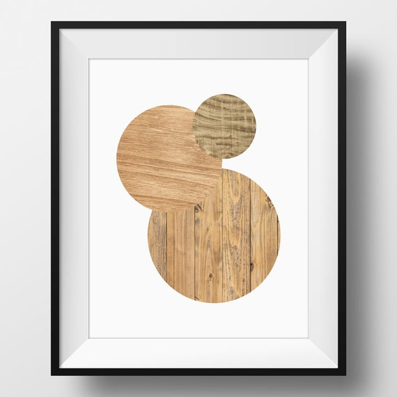 Wood Circle Wall Decor : Wood art print faux circles wall by orchardberry