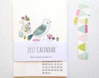 SALES -20 % OFF - 2017 calendar - 2017 desk calendar 2017 wall calendar, 12 cards - size 4 x 6 inch